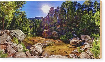 Wood Print featuring the photograph The Meditation Pond by ABeautifulSky Photography