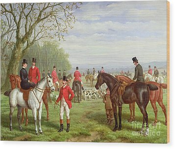 The Meet Wood Print by Edward Benjamin Herberte