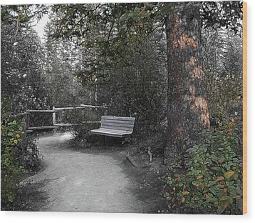 Wood Print featuring the digital art The Meeting Place by Stuart Turnbull