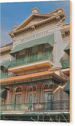 The Menger Hotel In Hdr Wood Print