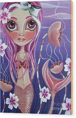 The Mermaid's Garden Wood Print by Jaz Higgins