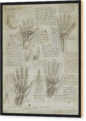 Wood Print featuring the painting The Metacarpal by James Christopher Hill