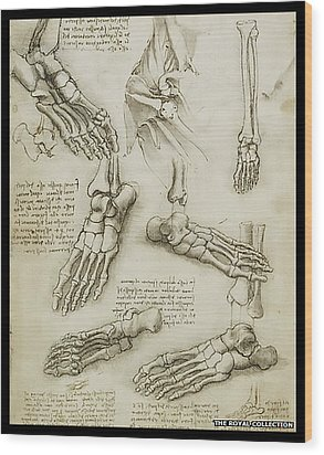 Wood Print featuring the painting The Metatarsal by James Christopher Hill