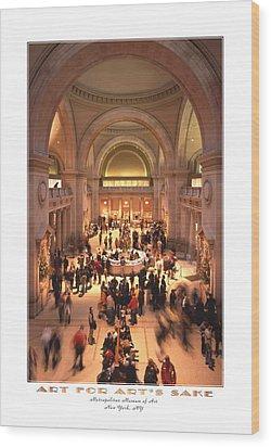 The Metropolitan Museum Of Art Wood Print by Mike McGlothlen