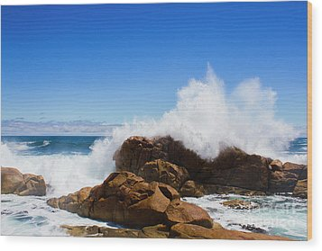 Wood Print featuring the photograph The Might Of The Ocean by Jorgo Photography - Wall Art Gallery