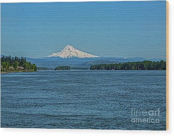 The Mighty Columbia Wood Print by Jon Burch Photography
