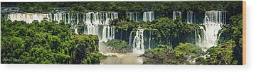 The Mighty Iguazu  Wood Print by Andrew Matwijec