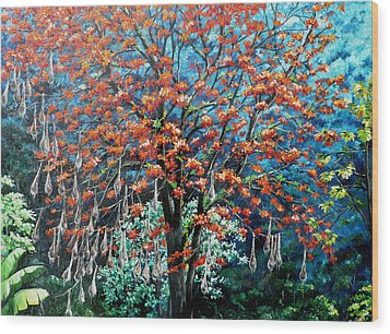 The Mighty Immortelle Wood Print by Karin  Dawn Kelshall- Best