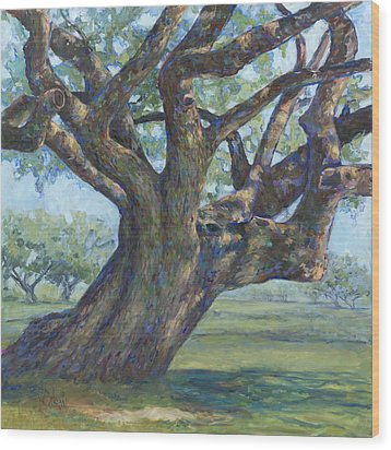 The Mighty Oak Wood Print by Billie Colson