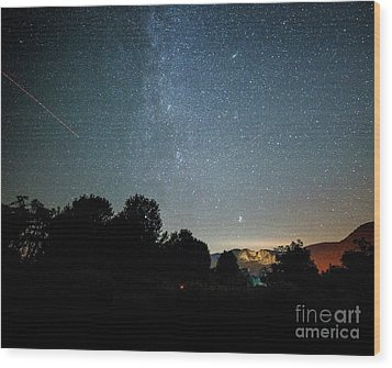The Milky Way Over Seneca Rocks Wood Print by Dr Regina E Schulte-Ladbeck
