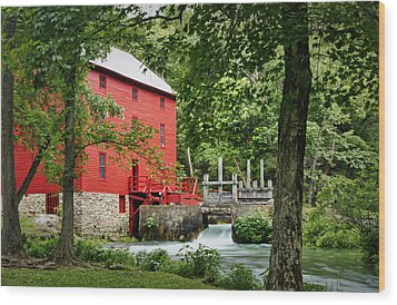 The Mill At Alley Spring Wood Print by Cricket Hackmann