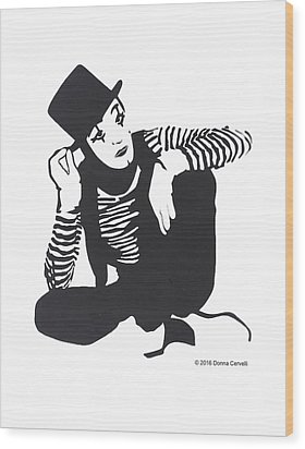 The Mime Wood Print