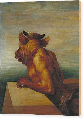 The Minotaur Wood Print by George Frederic Watts