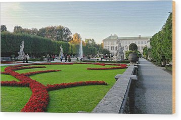 Wood Print featuring the photograph The Mirabell Palace In Salzburg by Silvia Bruno