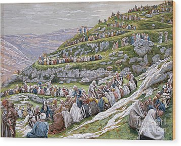 The Miracle Of The Loaves And Fishes Wood Print by Tissot