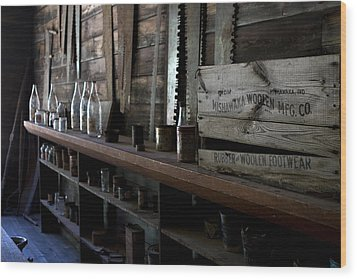 The Mishawaka Woolen Bar Wood Print