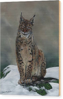 The Missing Lynx Wood Print