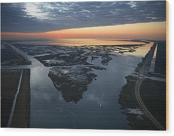 The Mississippi River Gulf Outlet Wood Print by Tyrone Turner