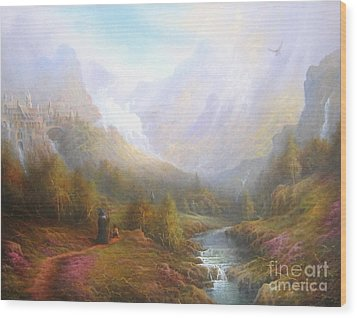 The Misty Mountains Wood Print by Joe  Gilronan
