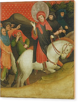 The Mocking Of Saint Thomas Wood Print by Master Francke