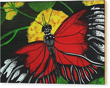 The Monarch Wood Print by Ramneek Narang