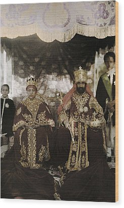 The Monarchs Haile Selassie The First Wood Print by W. Robert Moore