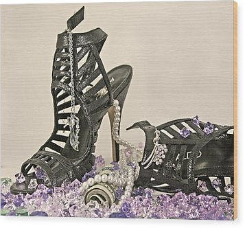 The Money Shoe Wood Print by Jim Justinick