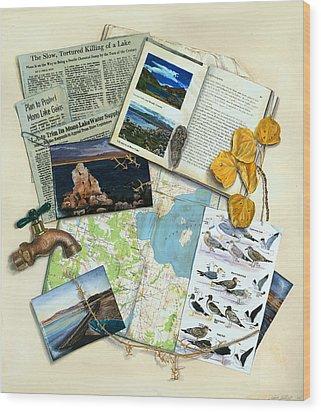 The Mono Lake Story Trompe L'oeil Wood Print by Logan Parsons