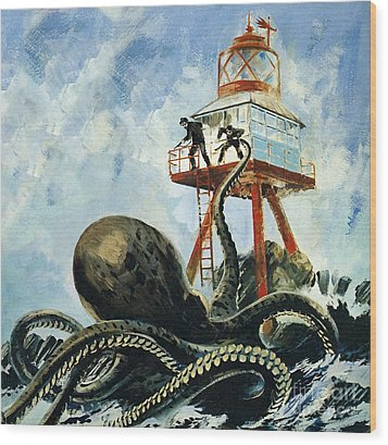The Monster Of Serrana Cay Wood Print by Graham Coton