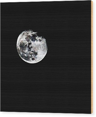 The Moon Wood Print