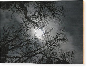 The Moon Prevails  Wood Print by Angie Wingerd