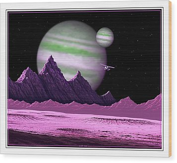 The Moons Of Meepzor Wood Print by Scott Ross