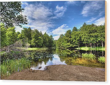 Wood Print featuring the photograph The Moose River At Covewood by David Patterson