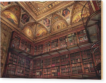 Wood Print featuring the photograph The Morgan Library by Jessica Jenney