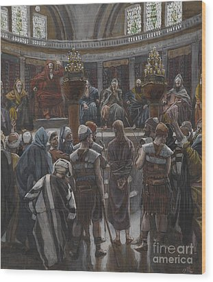 The Morning Judgement Wood Print by Tissot