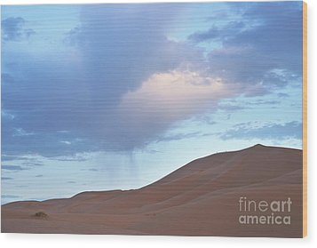 Wood Print featuring the photograph The Moroccan Dunes by Yuri Santin