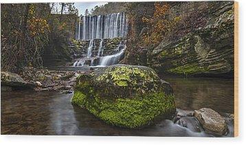 The Mossy Rock Wood Print