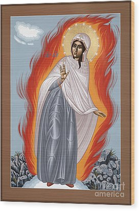 Wood Print featuring the painting The Mother Of God Of Medjugorgie 084 by William Hart McNichols