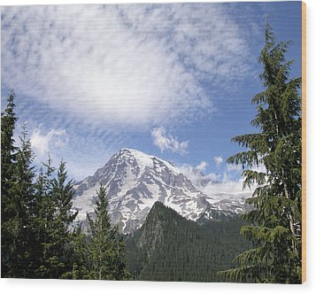 The Mountain  Mt Rainier  Washington Wood Print by Michael Bessler