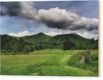 The Mountains Of Western North Carolina Wood Print by Greg Mimbs