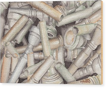 The Mouthpiece Jumble Experiment Wood Print by Ken Powers