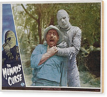 The Mummys Curse, From Left Kurt Katch Wood Print by Everett