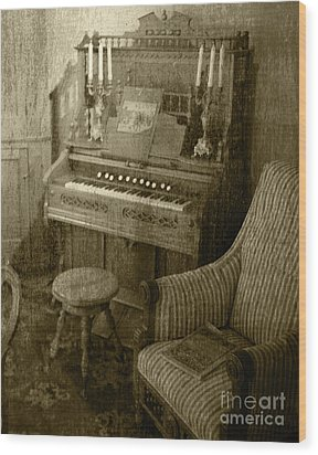 Wood Print featuring the photograph The Music Parlor by Pete Hellmann