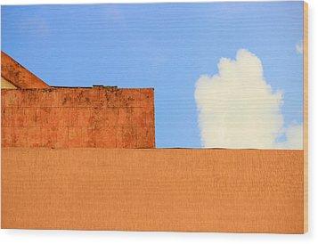 The Muted Cloud Wood Print by Prakash Ghai