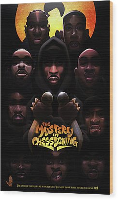 The Mystery Of Chessboxing Wood Print by Nelson dedosGarcia