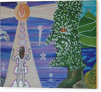 The Mystic's Journey Wood Print by Carolyn Cable