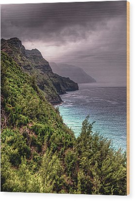 The Na Pali Coast Wood Print by Natasha Bishop