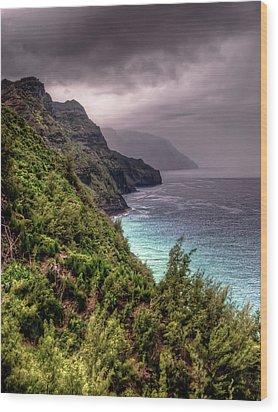 The Na Pali Coast Wood Print