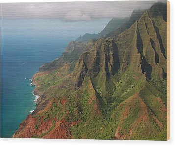The Napali Coast Wood Print