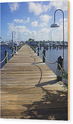 The Naples City Dock Wood Print by Robb Stan